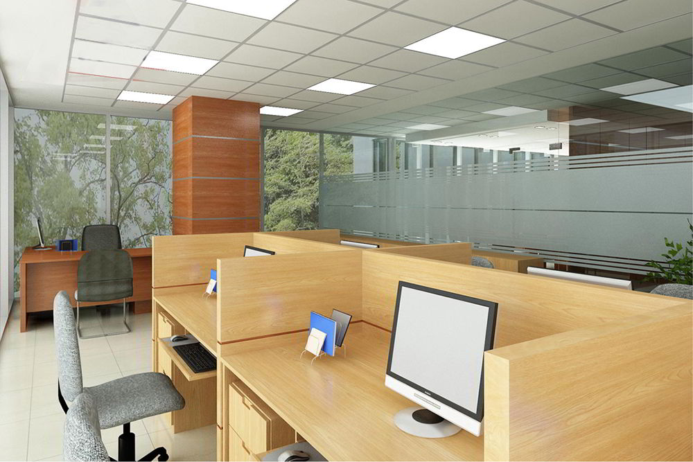 bàn gỗ công nghiệp trong văn phòng