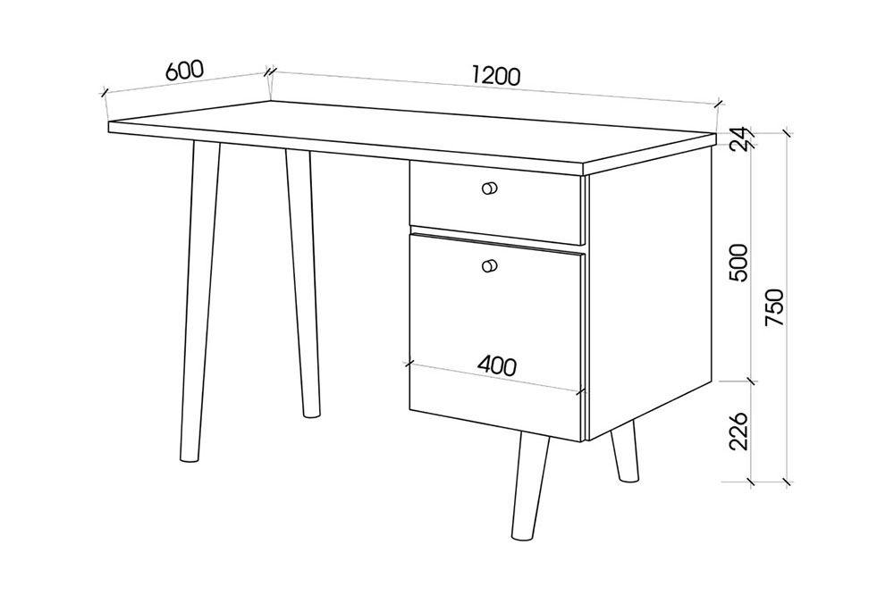 chiều cao chuẩn của bàn làm việc là bao nhiêu