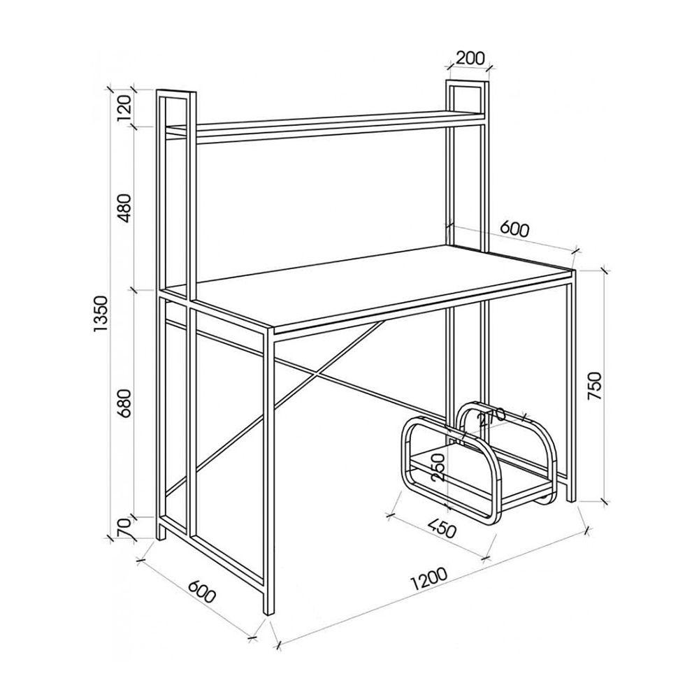 kích thước khung bàn vi tính đơn giản