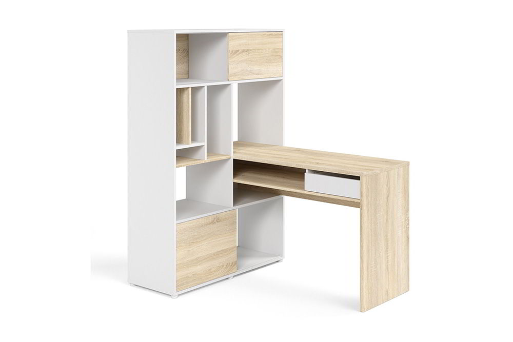 tủ góc tường kết hợp bàn làm việc