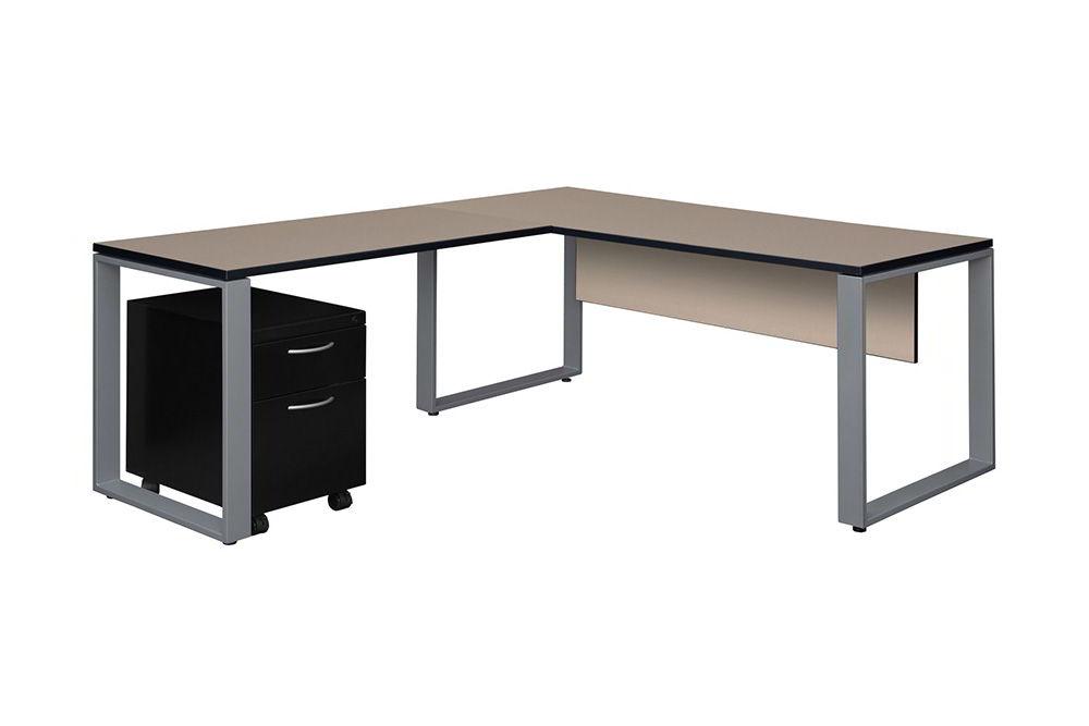 bàn làm việc chữ L mang phong cách hiện đại