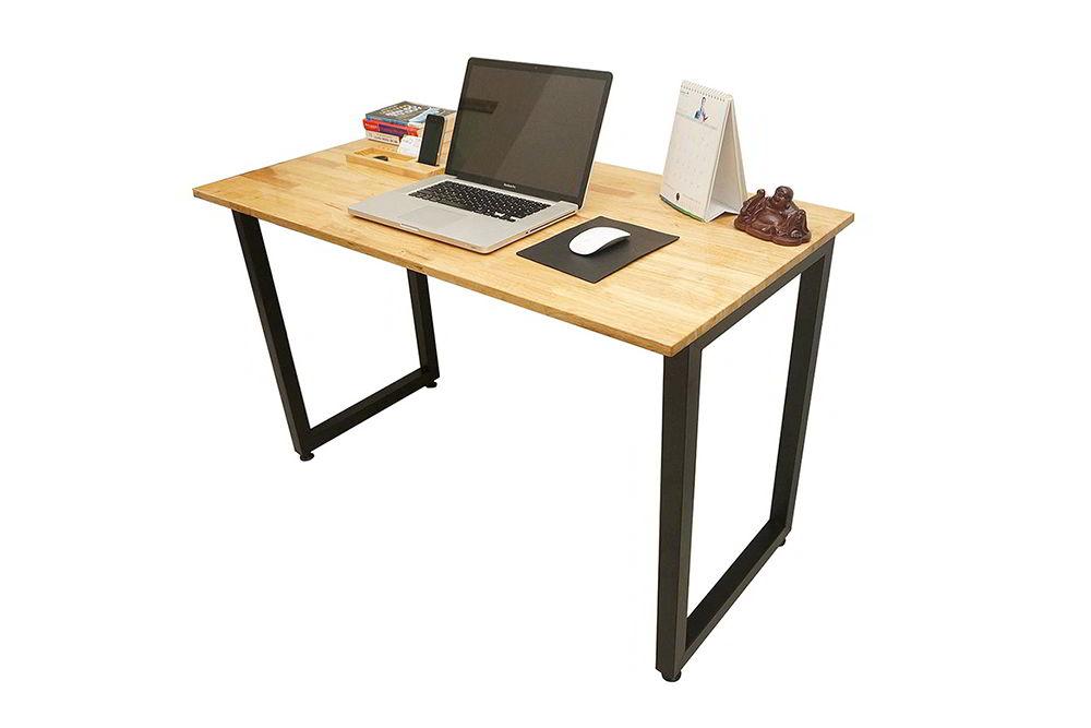 bàn làm việc gỗ đơn giản chân gấp