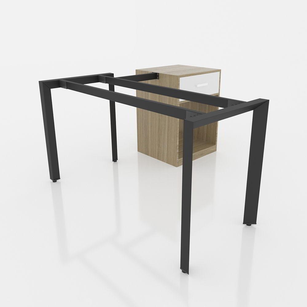 GDTG004 - Chân bàn giám đốc 1400x600mm sắt tam giác lắp ráp ngàm