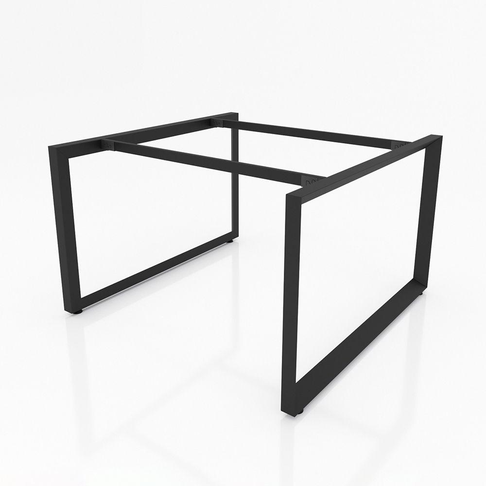 NVTG013 - Chân bàn nhân viên 1400x1400 sắt tam giác quỳ lắp ráp ngàm