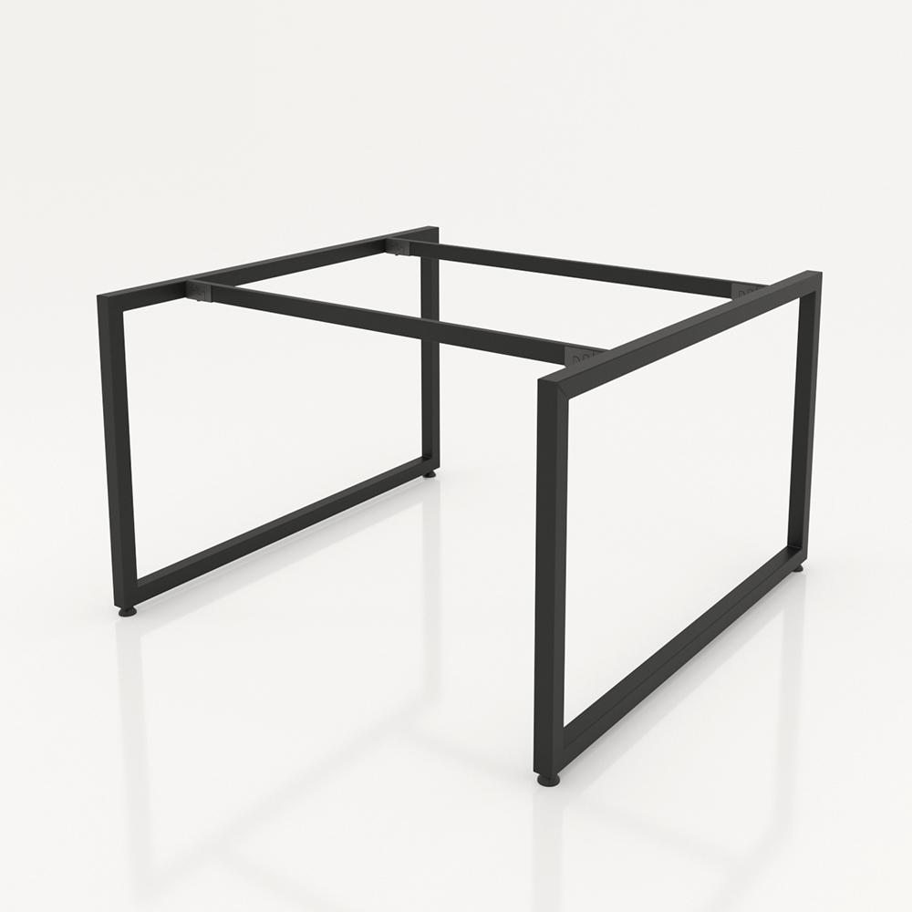 NVCV016 - Chân bàn nhân viên 1400x1400mm sắt vuông quỳ 40x40 lắp ráp