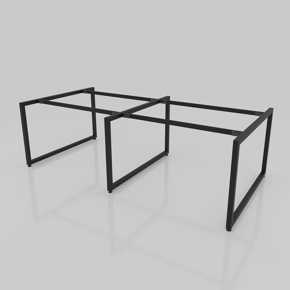 NVCV017 - Chân bàn nhân viên 2400x1200mm sắt vuông quỳ 40x40 lắp ráp