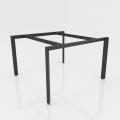 NVTG005 - Chân bàn nhân viên 1400x1400mm sắt tam giác lắp ráp ngàm
