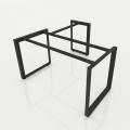 GDTG009 - Chân bàn giám đốc 1400x600mm sắt tam giác lắp ráp ngàm