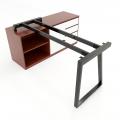 HCTH022 - Chân bàn gác tủ 140x60 hệ Trapeze II Concept lắp ráp