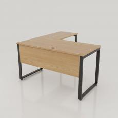 BGD001 - Bàn giám đốc 1400x600 gỗ MFC chân sắt chữ L lắp ráp 25x50