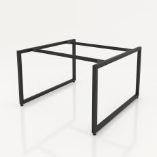 NVCV015 - Chân bàn nhân viên 1200x1200mm sắt vuông quỳ 40x40 lắp ráp