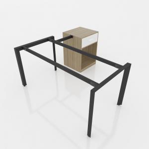 GDTG006 - Chân bàn giám đốc 1600x800mm sắt tam giác lắp ráp ngàm