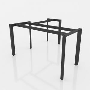 GDTG002 - Chân bàn giám đốc 1400x700 sắt tam giác lắp ráp ngàm