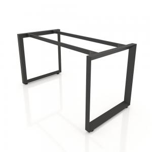 NVTG010 - Chân bàn nhân viên 1400x600 sắt tam giác quỳ lắp ráp ngàm