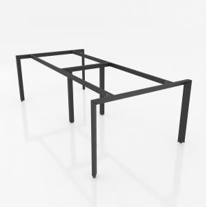 NVTG006 - Chân bàn nhân viên 2400x1200mm sắt tam giác lắp ráp ngàm