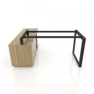 GDTG015 - Chân bàn giám đốc gác tủ 1400x700mm sắt tam giác lắp ráp ngàm