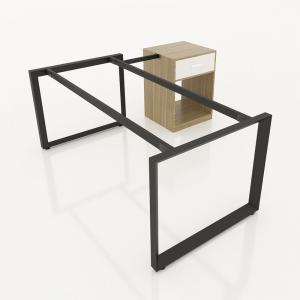GDTG014 - Chân bàn giám đốc gắn tủ 1600x800mm sắt tam giác lắp ráp ngàm