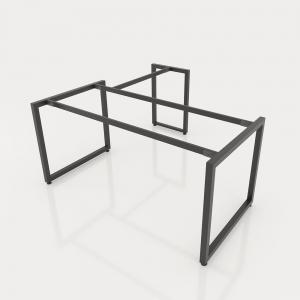 GDCV011 - Chân bàn giám đốc 1600x800 sắt vuông quỳ 40x40 lắp ráp