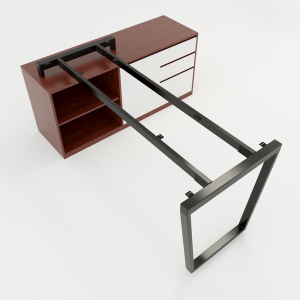 HCTC013 - Chân bàn gác tủ 160x140 hệ Trapez Concept lắp ráp