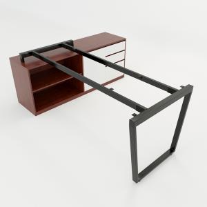 HCTC014 - Chân bàn gác tủ 180x160 hệ Trapez Concept lắp ráp