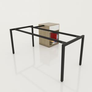 GDCV007 - Chân bàn giám đốc gắn tủ 1600x800 sắt vuông 40x40 lắp ráp