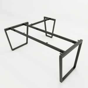 HCTC011 - Chân bàn chữ L 160x180 hệ Trapez Concept lắp ráp