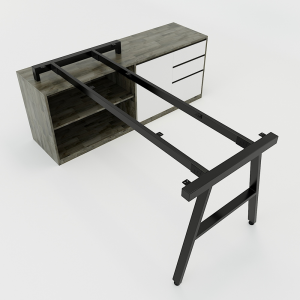 HCAC25 - Chân bàn gác tủ 160x180 hệ AConcept lắp ráp