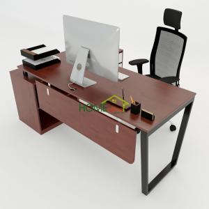 HBTC022 - Bàn Giám Đốc 160x140 Trapeze Concept lắp ráp