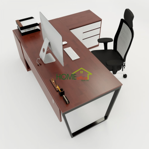 HBTC023 - Bàn Giám Đốc 180x160 Trapeze Concept lắp ráp