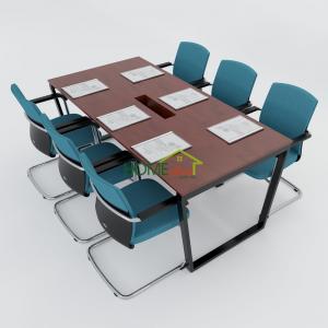 HBTC009 - Bàn họp 180x90 Trapeze Concept lắp ráp
