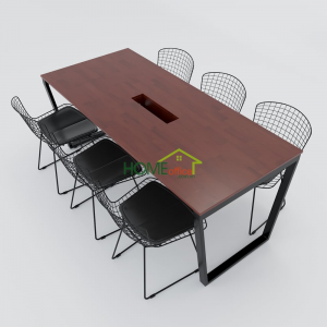 HBTC008 - Bàn họp 180x80 Trapeze Concept lắp ráp