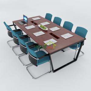 HBTC011 - Bàn họp 240x120 Trapeze Concept lắp ráp
