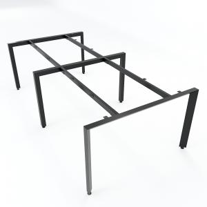 HCTA012 - Chân bàn cụm 4 hệ Trian Concept 240x120 lắp ráp