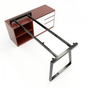 HCTH023 - Chân bàn gác tủ 140x70 hệ Trapeze II Concept lắp ráp