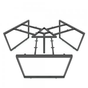 HCTC023 - Chân bàn cụm 3 236x205cm hệ Trapez Concept lắp ráp