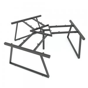 HCTH0231 - Chân bàn cụm 3 236x205cm hệ Trapeze II Concept lắp ráp