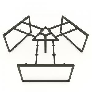 HCRT023 - Chân bàn cụm 3 236x205cm hệ Rectang Concept lắp ráp