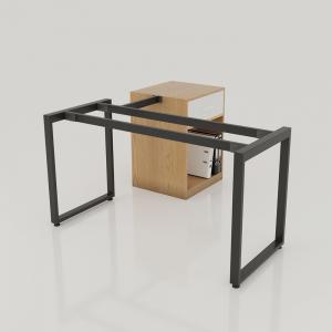 HCRT015 - Chân bàn giám đốc gác tủ 140x60 sắt 25x50 lắp ráp