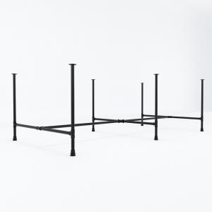 CON011 - Chân sắt ống nước cụm 4 240x120 hệ PIPE Concept lắp ráp