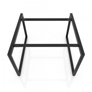 HCRT006 - Chân bàn văn phòng cụm 2 140x140 sắt 25x50 khung hình vuông lắp ráp
