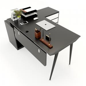 HBCO021 - Bàn giám đốc 160x140cm (mặt bàn 70cm) chân côn lắp ráp