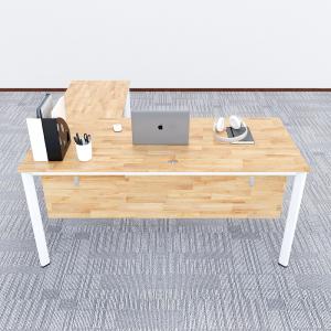 HBOV017 - Bàn làm việc chữ L 160x150 hệ Oval Concept chân lắp ráp
