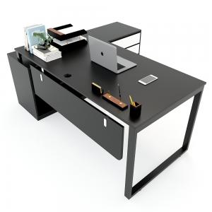 HBRT022 - Bàn giám đốc 180x160cm hệ RECTANG chân sắt lắp ráp