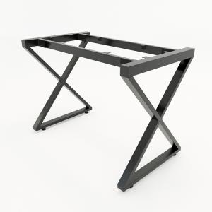 CBXC001 - Chân bàn đơn giản sắt 25x50 lắp ráp chữ X