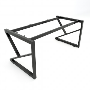 CBKC002 - Chân bàn giám đốc sắt 25x50 lắp ráp chữ K