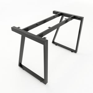 CBTV001 - Chân bàn đơn giản sắt 25x50 lắp ráp hình thang