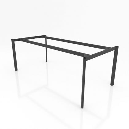 BHOV003 - Chân bàn họp 2000x1000mm sắt Oval lắp ráp ngàm