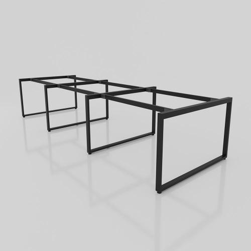 NVCN014 - Chân bàn nhân viên 3600x1200 sắt 25x50 lắp ráp ngàm