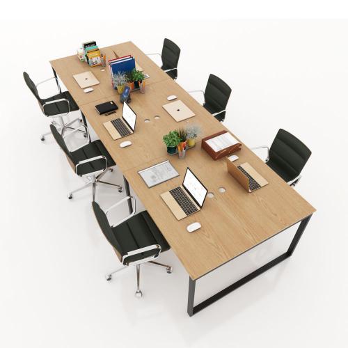bàn cụm dài 2m4 cho 4 người làm việc