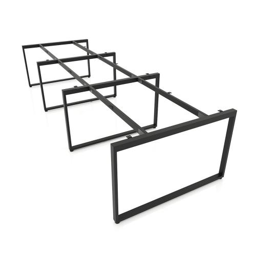 NVCN013 - Chân bàn nhân viên 3600x1200 sắt 20x40 lắp ráp
